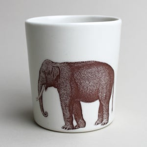 Image of 16oz tumbler with elephant, ivory