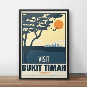 Image of Bukit Timah Vintage-Style Travel Poster