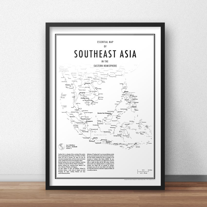 Map Of Asia To Print.Eck Art Designs Southeast Asia Fine Art Print