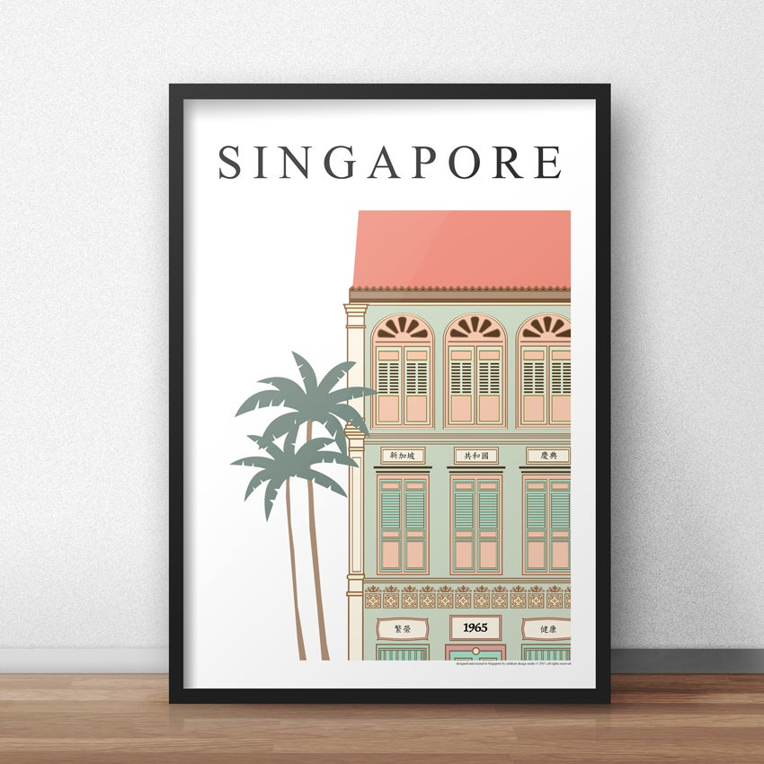 Image of Singapore Shophouse (30cm x40cm)