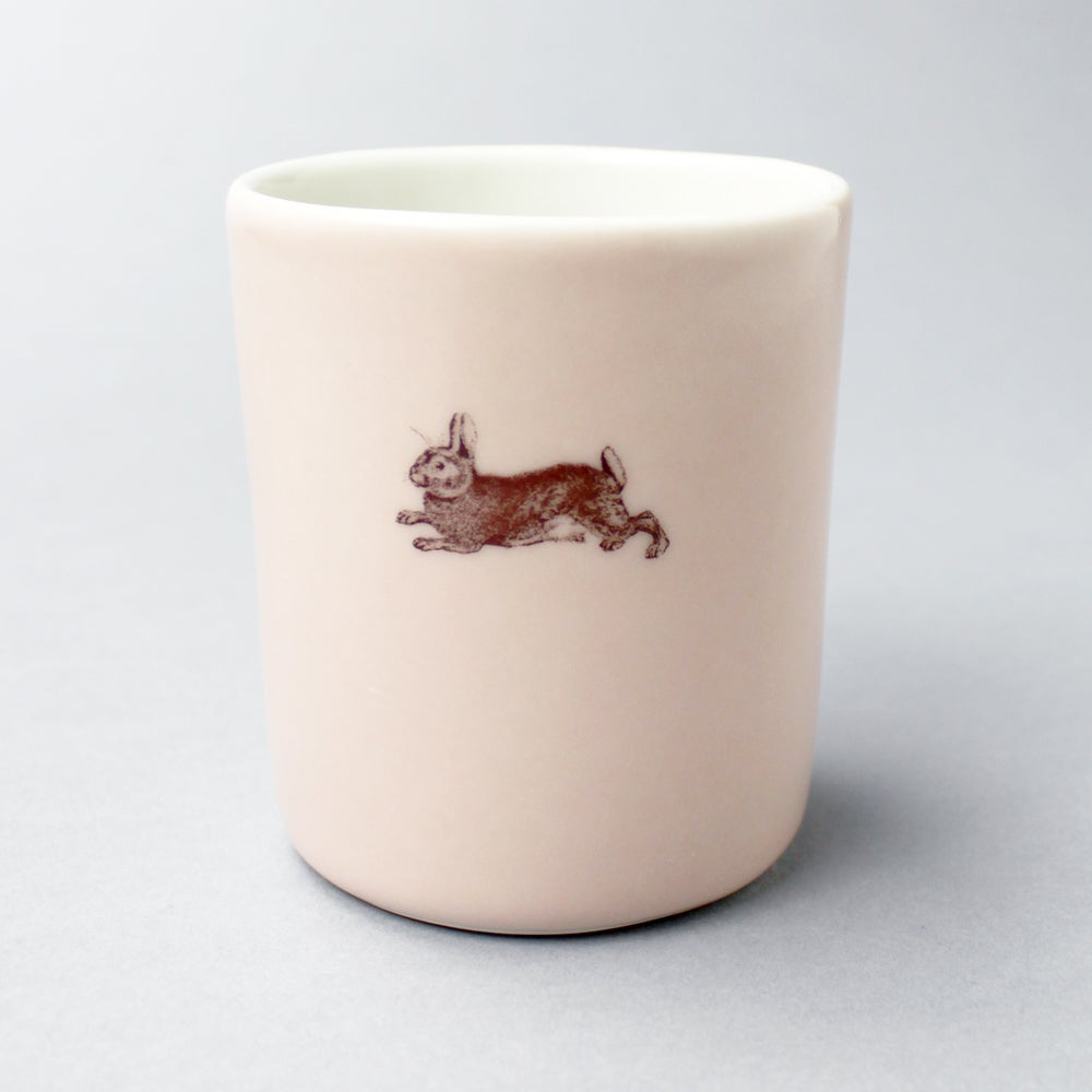 Image of 10oz tumbler with rabbit, <br />rose