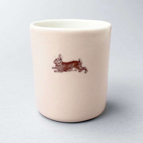Image of 10oz tumbler with rabbit, rose