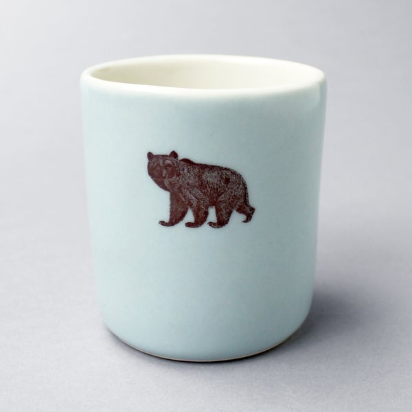 Image of 10oz tumbler with bear, ocean