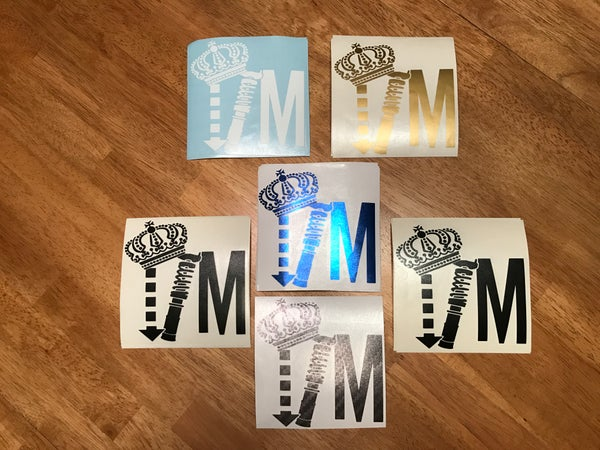 "Image of 4.75"" x 4.75"" IM Logo Decals"