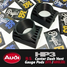 Image of HP3 - AUDI B5 Center Vent Gauge Pods (forward facing/angled)