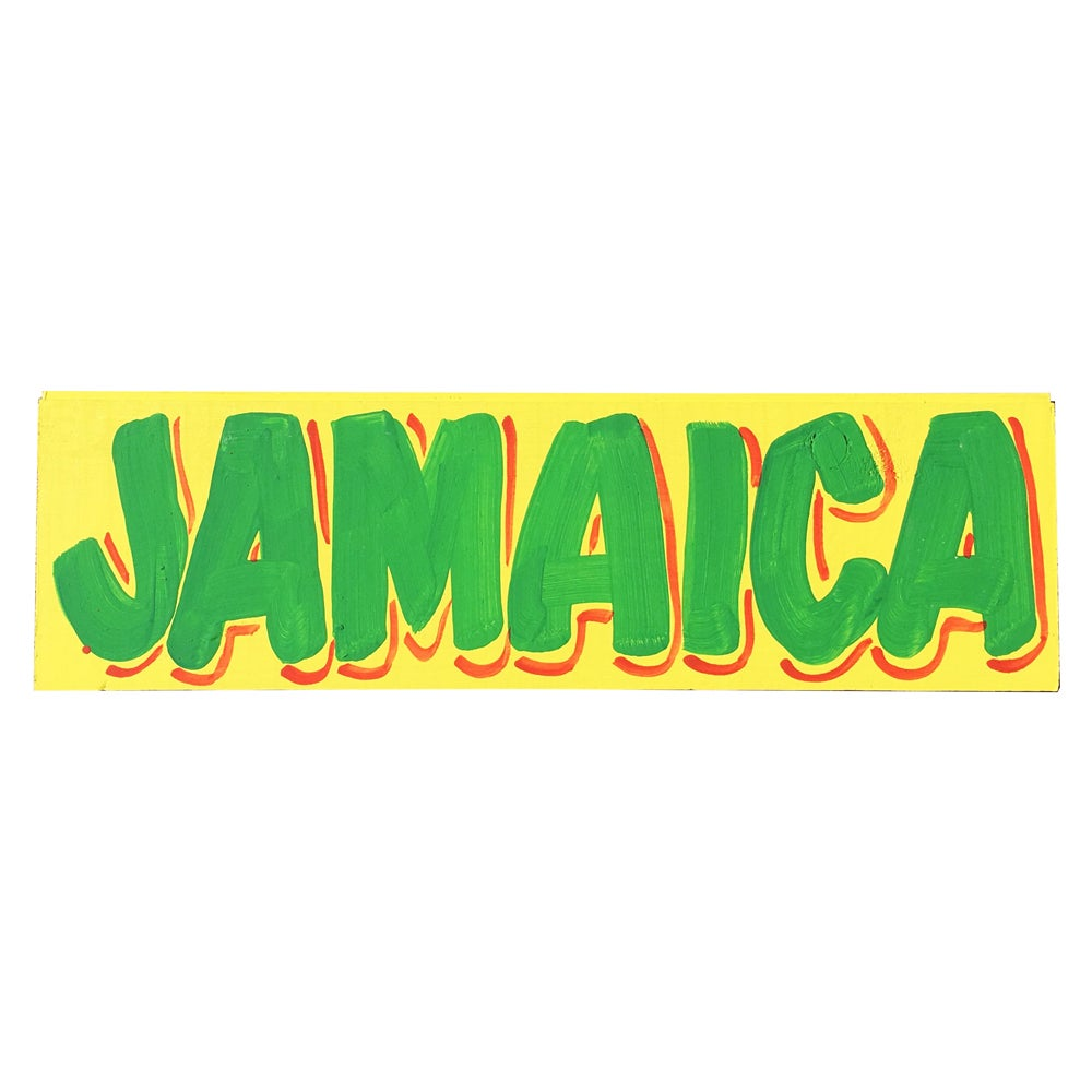 "Image of ""Jamaica"", Yellow / Green by Nurse Signs"