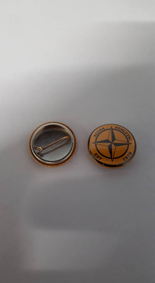 Image of Alloa Athletic est 1878 Football Casuals/Hooligans ACAB AMF Brand new badge 25mm