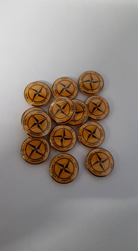 Alloa Athletic est 1878 Football Casuals/Hooligans ACAB AMF Brand new badge 25mm