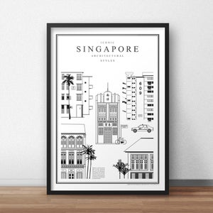Image of Iconic Singapore Architectural Styles (Fine Art Print)