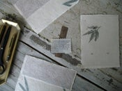 Image of 'Editions' one-of-a-kind: stitched notes