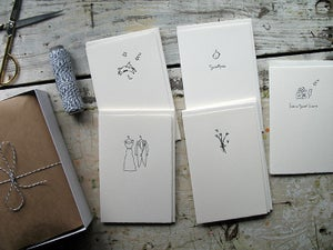 Image of Greeting Cards - letterpress printed on Fabriano papers