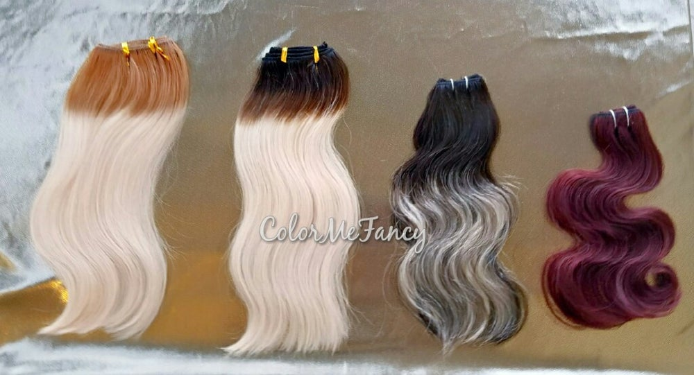 Image of Sample Custom Colors Hair Dye Of Choice Ombre , Highlights