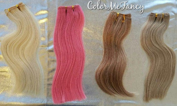 Image of Sample Custom Colors Pink Hair , Blonde Mix , Brown Mix