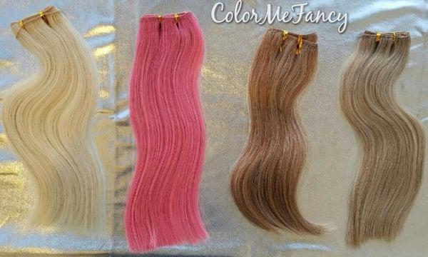Image of Sample Custom Colors Pink Hair , Blonde Mix , Brown Mix