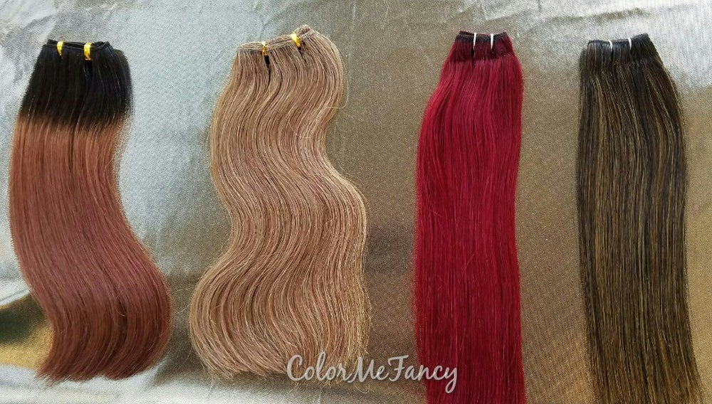 Image of Sample Custom Colors #118 Hair , #9/22 Blonde Mix , Ombre