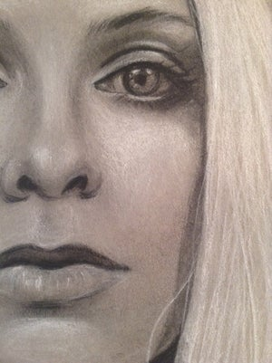 Image of Study of Kelly - Charcoal Drawing 9x12