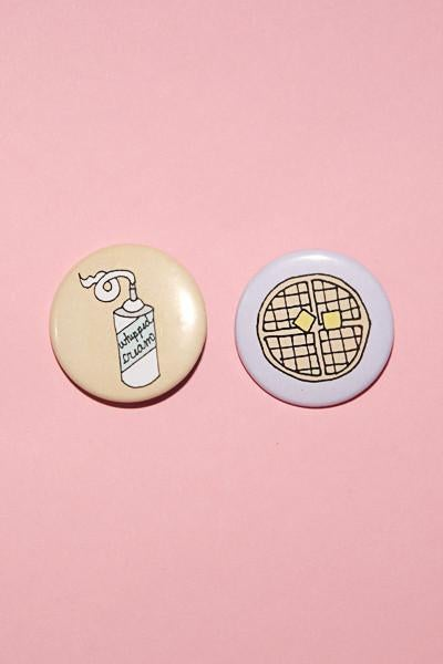 Image of BFF WAFFLES + WHIPPED CREAM BUTTON SET