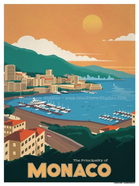 Image of Monaco Poster