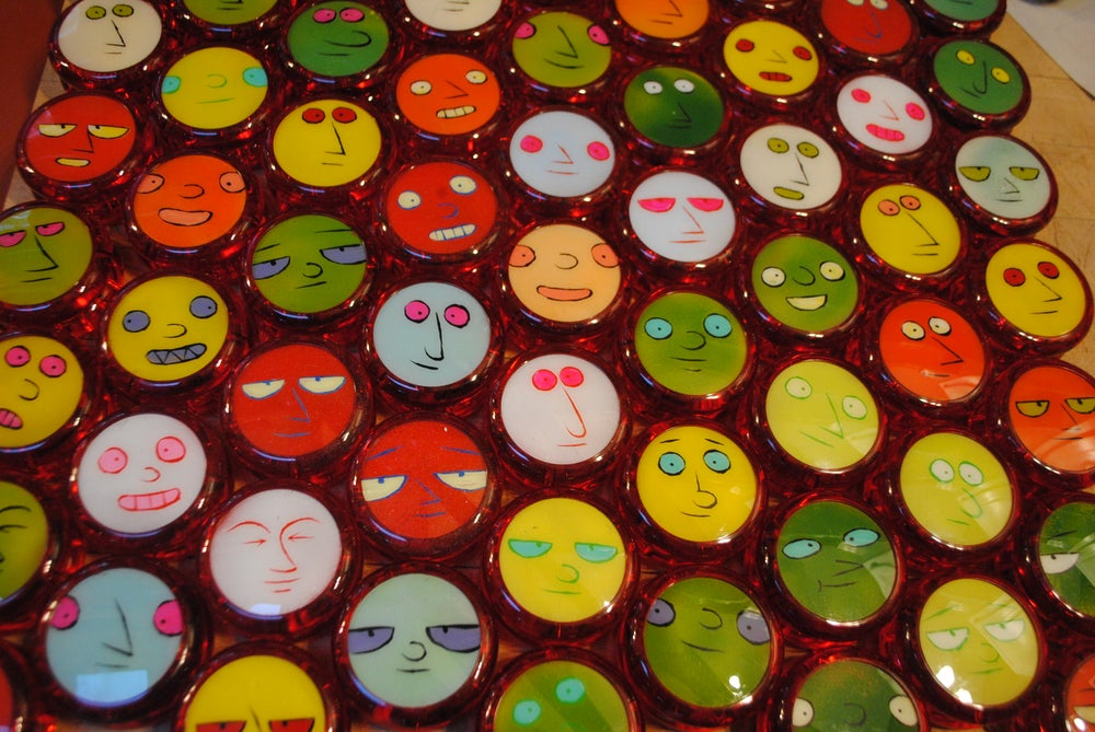 Image of FACE IN THE CROWD 2018 (new price new colors!)  Painted Duncan Yo-Yo!