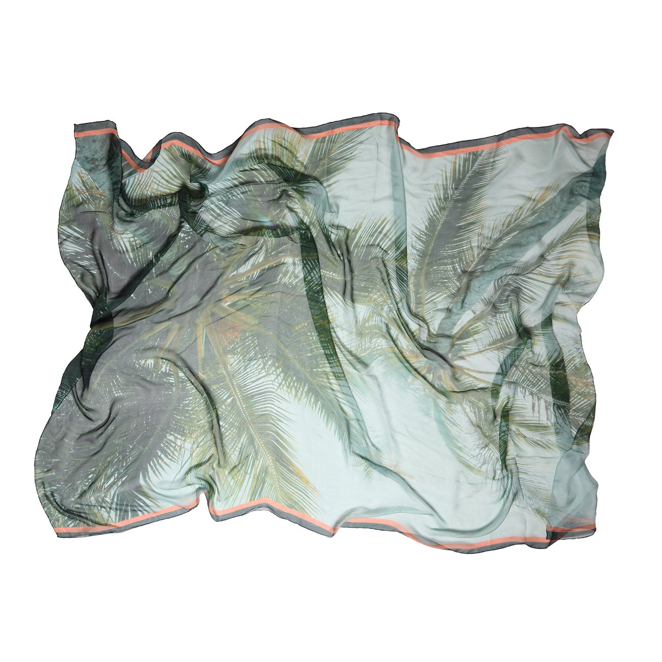 Image of Silk Chiffon | Palms of Catseye sarong
