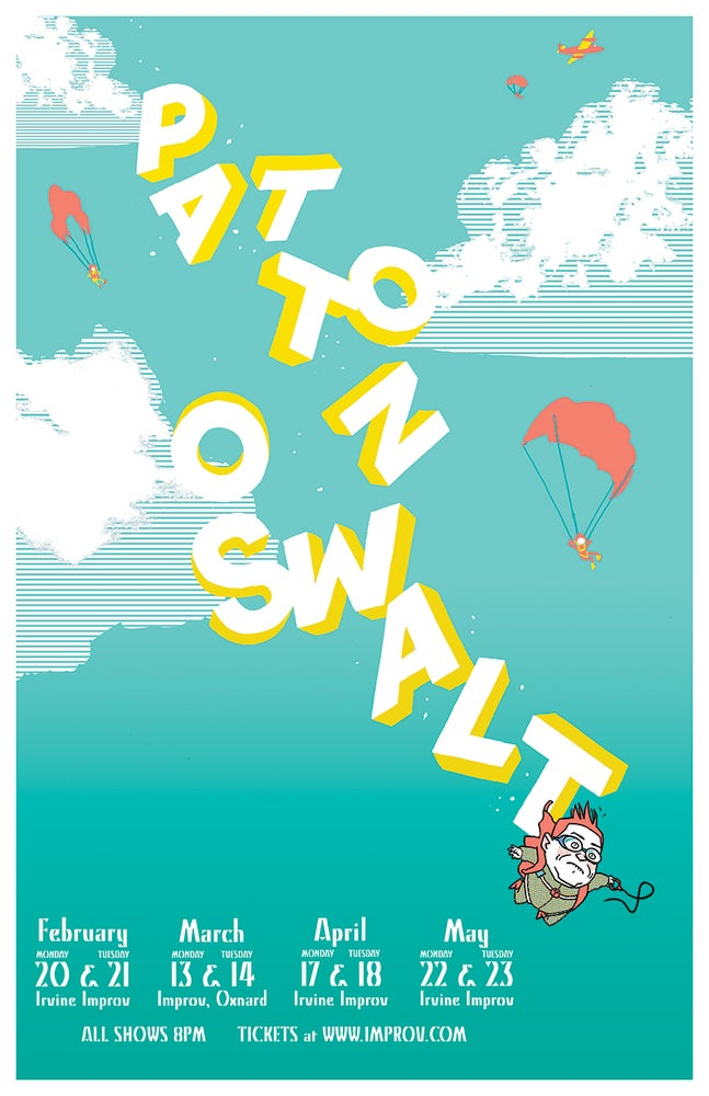 Image of Poster - SIGNED by Patton Oswalt, Irvine CA 2017 LIMITED AMOUNT!