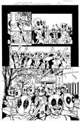 """Image of ORIGINAL ART--DEADPOOL in Gwenpool Holiday Special: Merry Mix Up """"Deadpooloween"""" Page 04"""