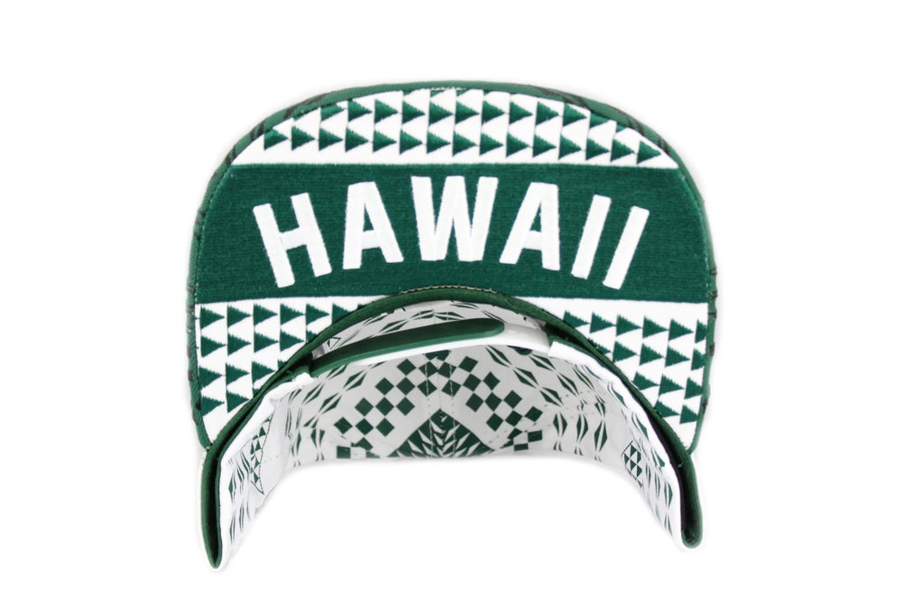 Image of Aloha green snapback hat