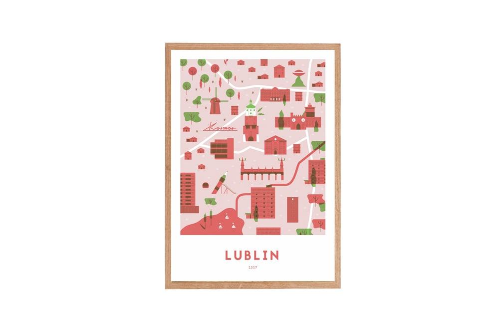 Image of 1317 - LUBLIN (czerwony) // Michał Bednarski