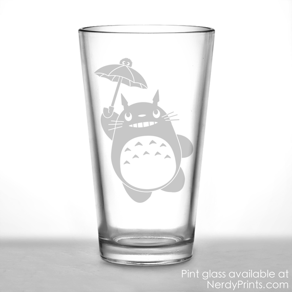 Image of Totoro Inspired Pint Glass