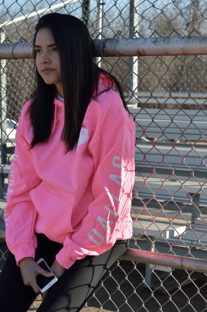 """Image of """"Heart of Texas"""" II Hoodie / Pink and White Colorway"""