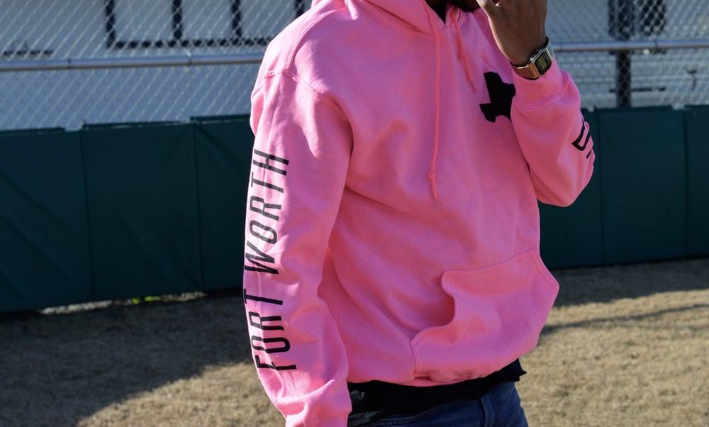 """Image of """"Heart of Texas"""" II Hoodie / Pink and Black Colorway"""