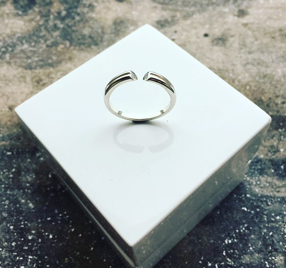 Image of Open Double HEART Ring