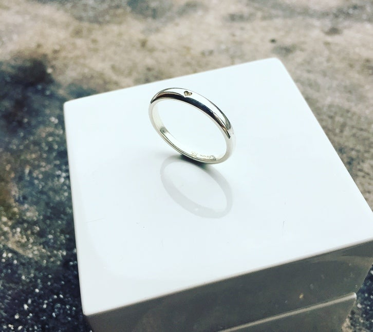 Image of Silver Tapered HEART Ring