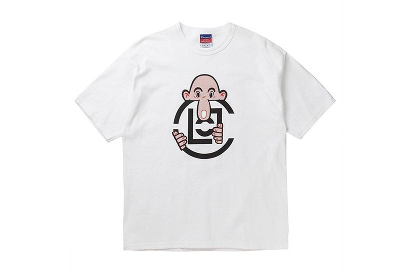 Clot x Champion x Eric Elms Long Nose Tee (White)