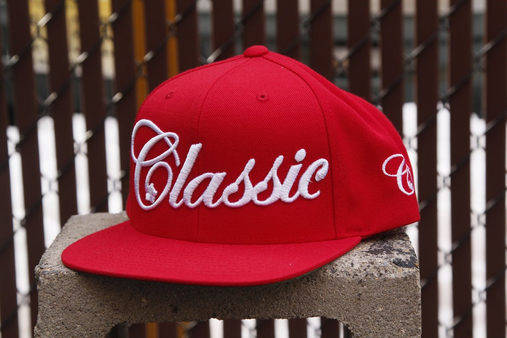 Image of Script Snapback (red)