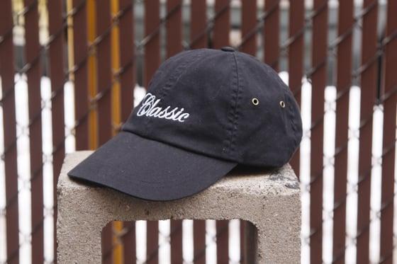 Image of Mini Script Dad Hats (black)