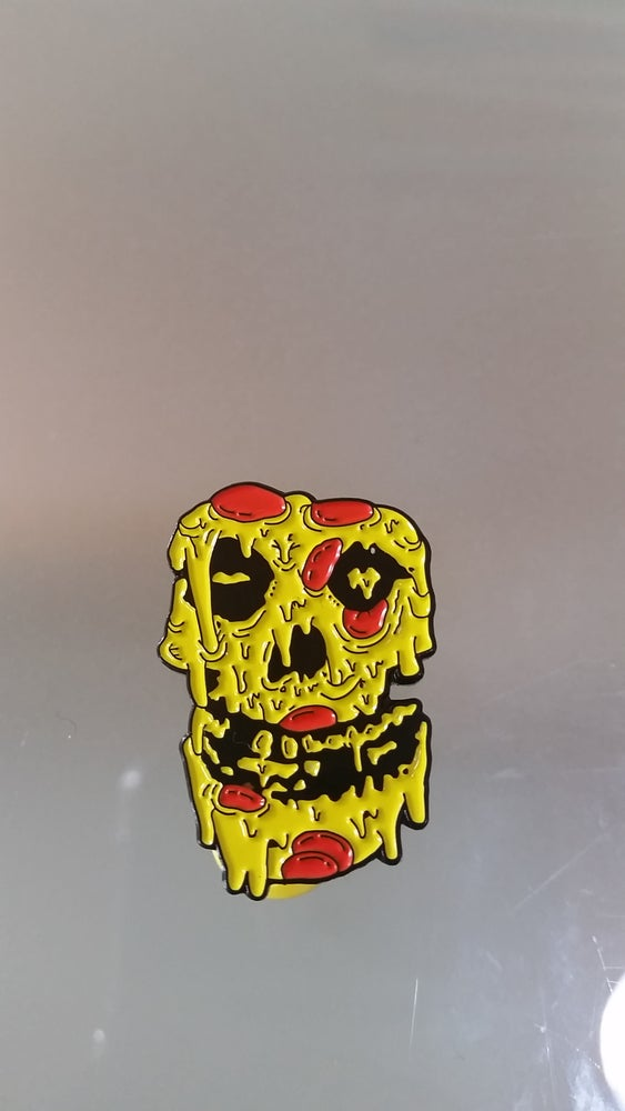 Image of THE ORIGINAL CRIMSON PIE 1.25 INCH PIN