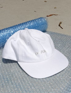 Image of space race cap (white denim)