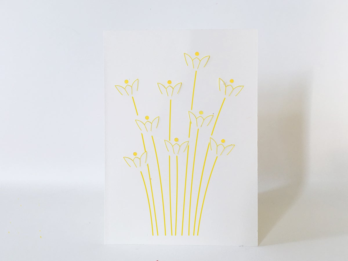 Image of 2 x Fold Out Daffodil Cards