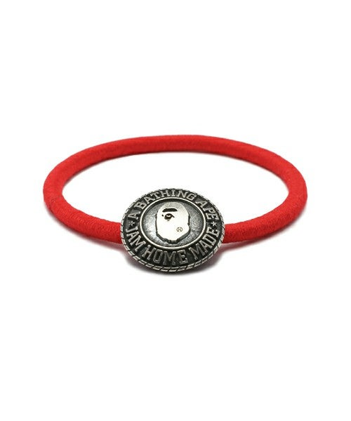 Image of A Bathing Ape x Jam Home Made  - Rubber Bracelet (Red)
