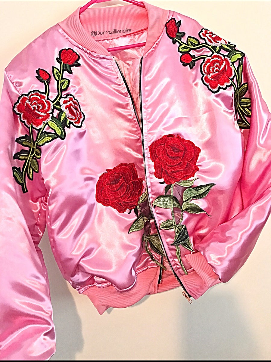 Image of Pink Rose Patch Bomber