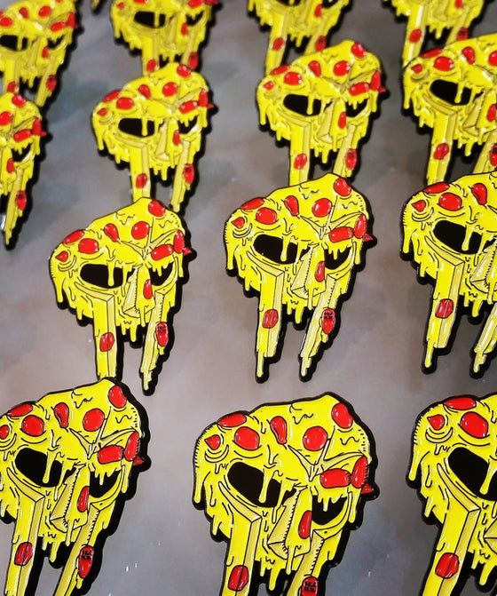 Image of THE ORIGINAL MF slice PIN. RIP DOOM -NO LONGER FOR SALE-