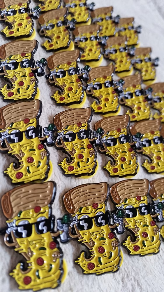 Image of  GRAFFLIFE STREET SLICE PIN - HA! X PIZZABOYZZZ