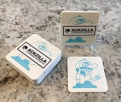 Image of Letterpress coaster print (light blue)