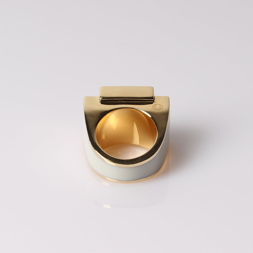 Image of Bague One Ivory