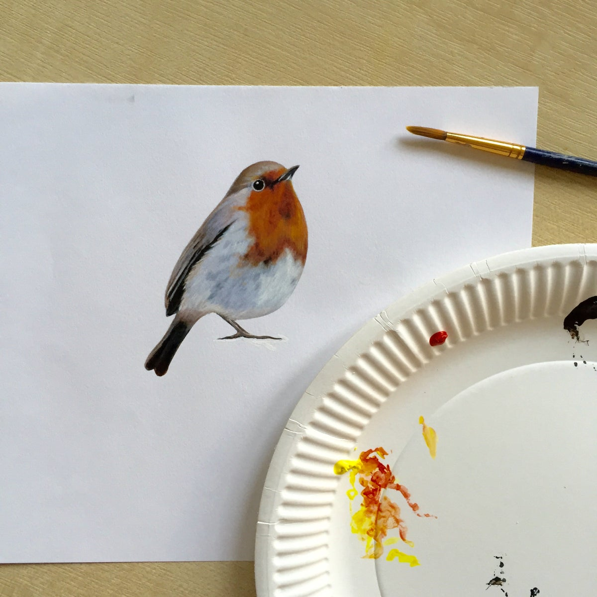 Image of Bob Robin ~ Wall sticker decal