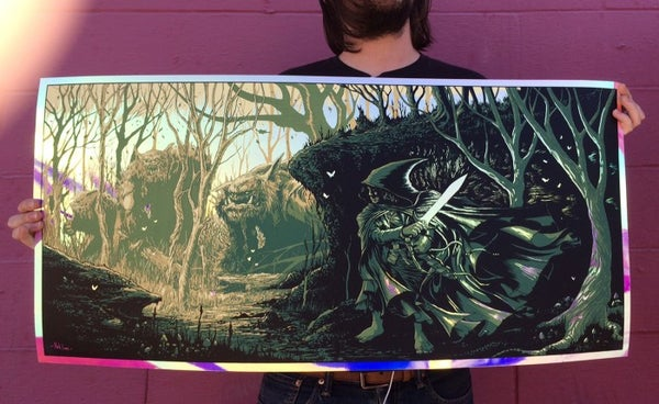 Image of Sting the Orc Blade metallic ink variant - ARTIST PROOF