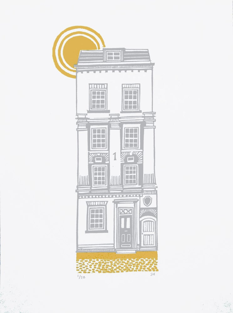 Image of House Series  1 - 5 - Mustard and Grey