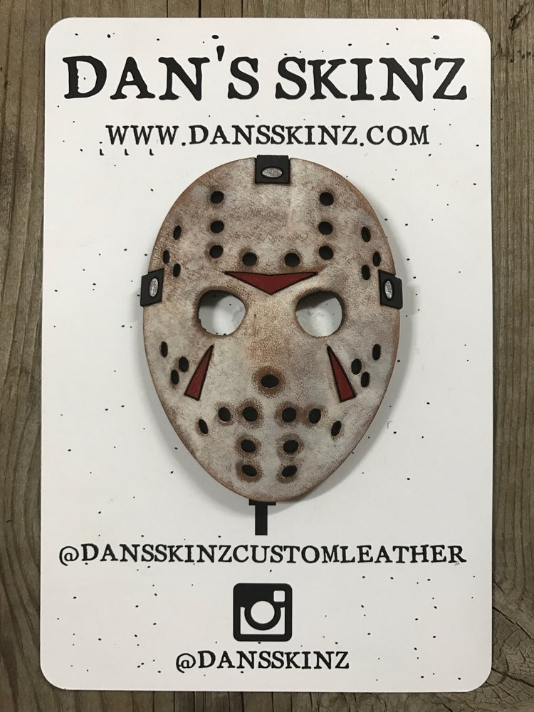 """Image of 3"""" Leather Jason Mask"""