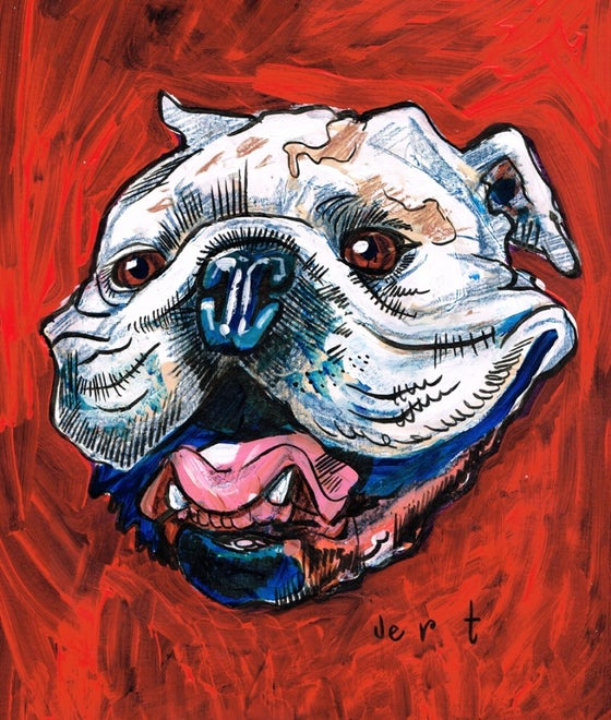 Image of CUSTOM PAINTED PET COMMISSION ON PAPER OR CANVAS -from photos